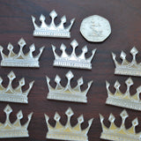 Diamond Tipped Crown Mini Craft Sized Acrylic Mirrors (10Pk) - Suave Petal