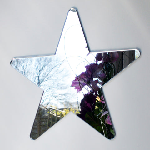 Rounded Star Acrylic Mirror - Suave Petal