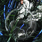 Dog Bauble Clear Acrylic Christmas Decorations 6pk - Retriever - Suave Petal