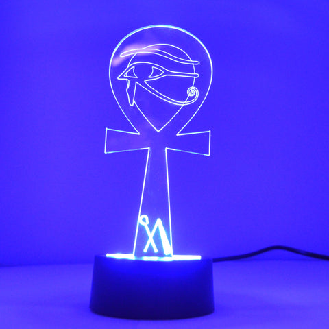 Eygyptian Ankh with Eye Colour Changing LED Mini Acrylic Light - Suave Petal