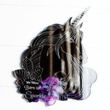 Unicorn Engraved Head -You Were Born to Sparkle Quote Acrylic Mirror - Suave Petal