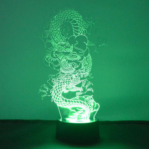 Chinese Dragon LED Acrylic Light - Suave Petal