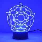 Tudor Rose Colour Changing LED Mini Acrylic Light - Suave Petal