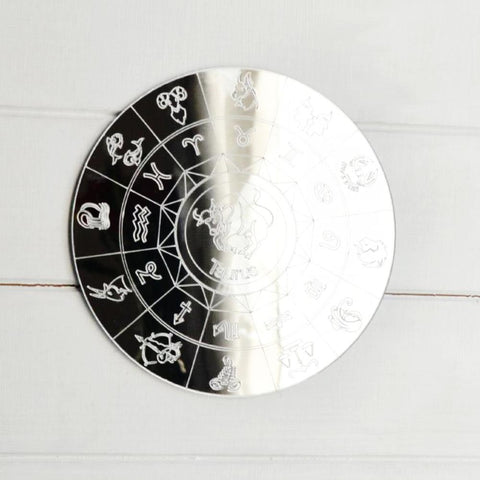 Zodiac Horoscope Circle Engraved Acrylic Mirror - Taurus