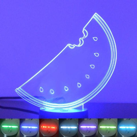 Slice of Watermelon Colour Changing LED Acrylic Light - Suave Petal