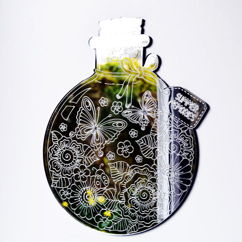 Summer Memories in a Bottle Acrylic Mirror - Suave Petal