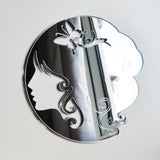Lady Butterfly Head Acrylic Mirror - Suave Petal