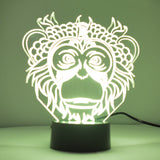 Monkey Face Colour Changing LED Mini Acrylic Light - Suave Petal