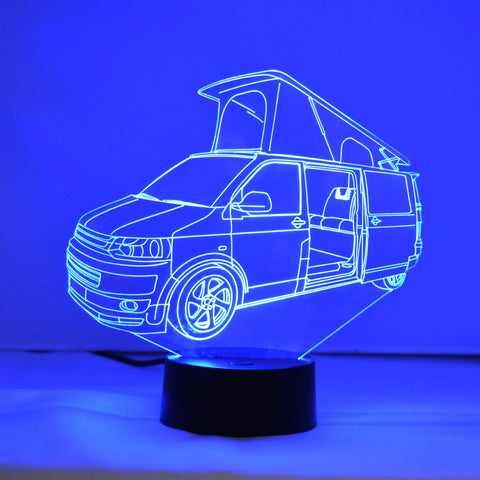 T5 VW Transporter Campervan Colour Changing LED Mini Acrylic Light - Suave Petal