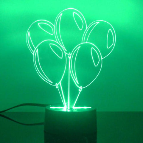 Bunch of Balloons Handmade Colour Changing LED Acrylic Light - Suave Petal