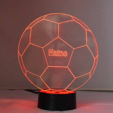 Soccer Football Mini LED Acrylic Light Personalised with Any Name