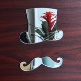 Top Hat and Moustache Acrylic Mirror - Suave Petal