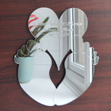 New Baby Christening Baby Feet and Personalised Heart Acrylic Mirror - Suave Petal