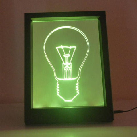 Light Bulb Colour Changing RC LED Mirror Light Frame