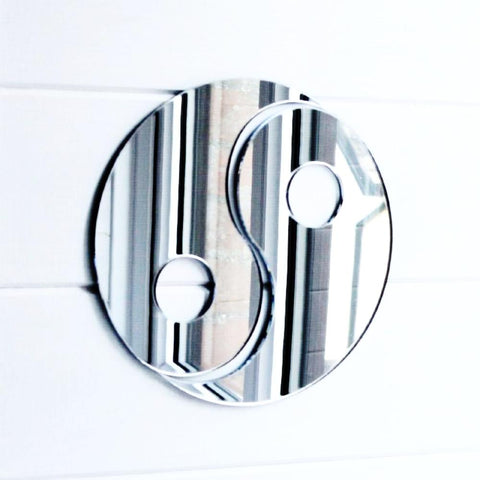 Yin and Yang Acrylic Mirror - Suave Petal