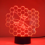 Honeycomb Bee Colour Changing LED Mini Acrylic Light - Suave Petal