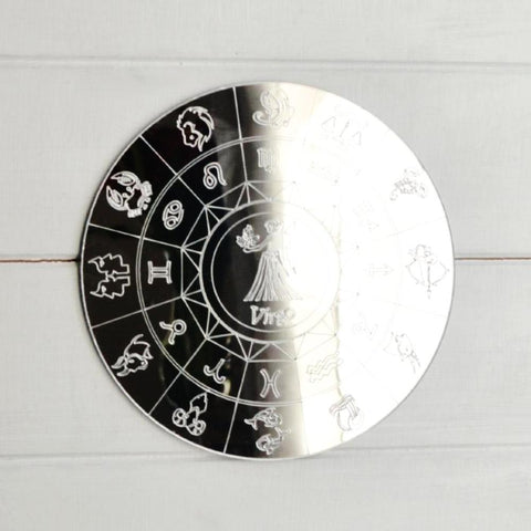 Zodiac Horoscope Circle Engraved Acrylic Mirror - Virgo - Suave Petal