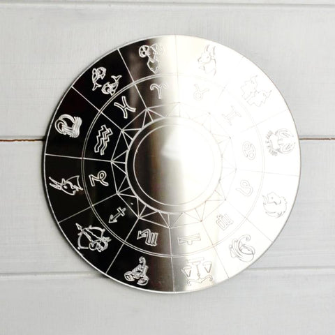 Zodiac Horoscope Circle Engraved Acrylic Mirror