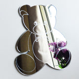 Mr Bear with Bow Acrylic Mirror - Suave Petal
