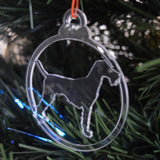 Dog Bauble Clear Acrylic Christmas Decorations 6pk - Airedale / Bingley / Waterside Terrier - Suave Petal