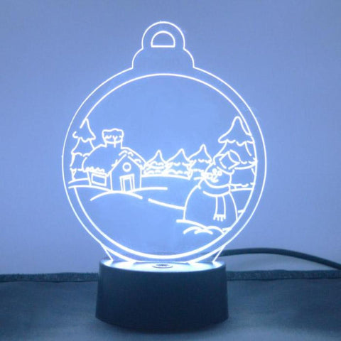 Christmas Village Snow Scene Colour Changing LED Acrylic Light - Suave Petal