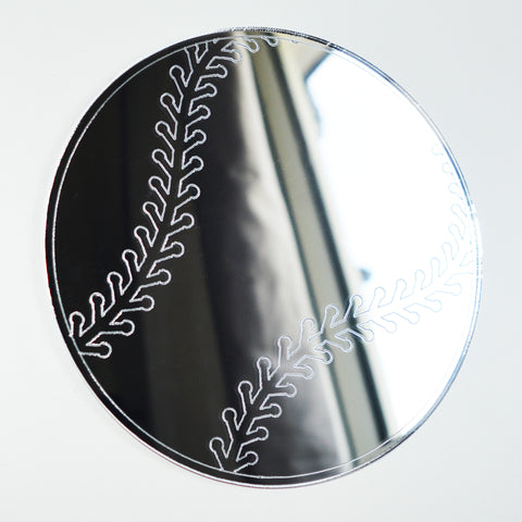 Baseball Ball Engraved Acrylic Mirror - Suave Petal