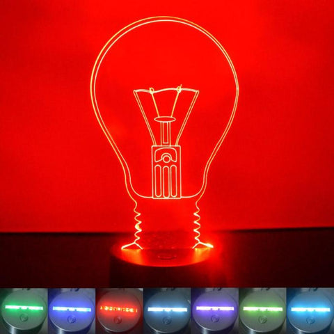 Light Bulb Colour Changing LED Acrylic Light - Suave Petal