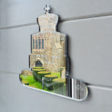 Regal Shield and Crown Toilet Door Sign - Suave Petal