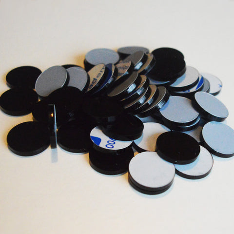 Black 2cm Round Circle Acrylic Mosaic Tiles