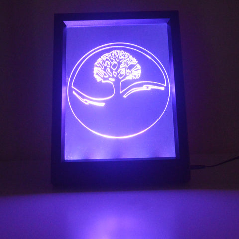 Tree of Life Circle Colour Changing RC LED Mirror Light Frame - Suave Petal