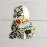 Snake with Decorative Engraving Acrylic Mirror - Suave Petal