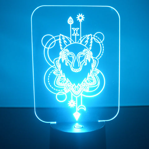 Wolf Decorative Rectangle Colour Changing LED Acrylic Light - Suave Petal