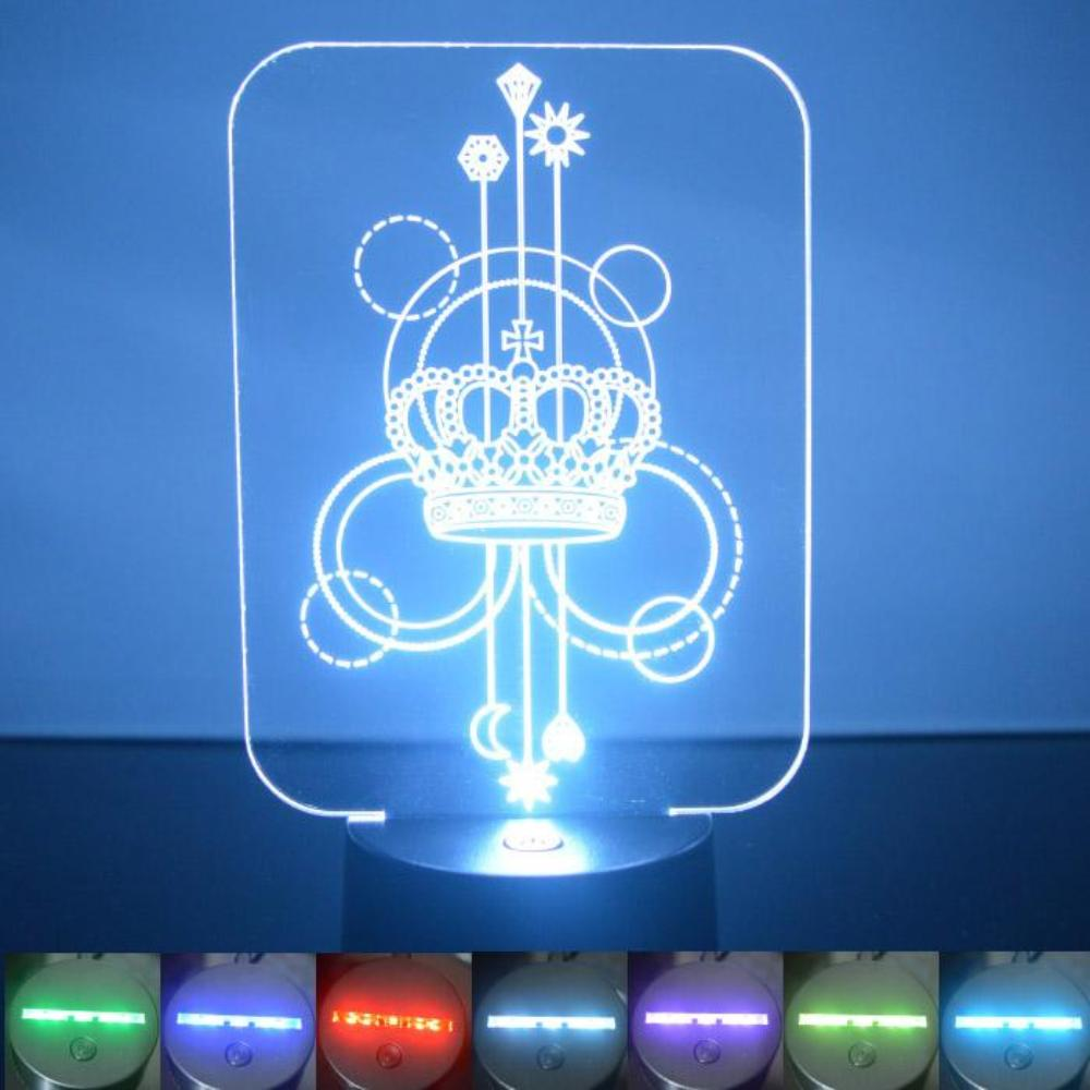 Crown Decorative Rectangle Colour Changing LED Acrylic Light - Suave Petal
