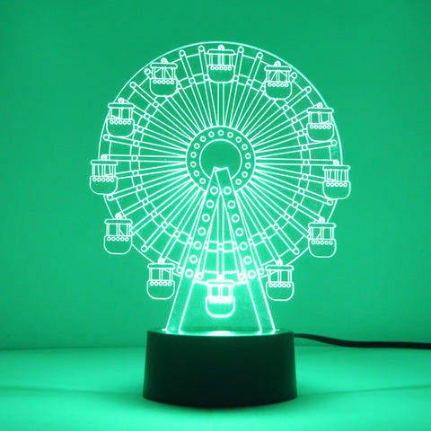 Funfair Ferris Wheel Big Wheel Colour Changing LED Acrylic Light - Suave Petal