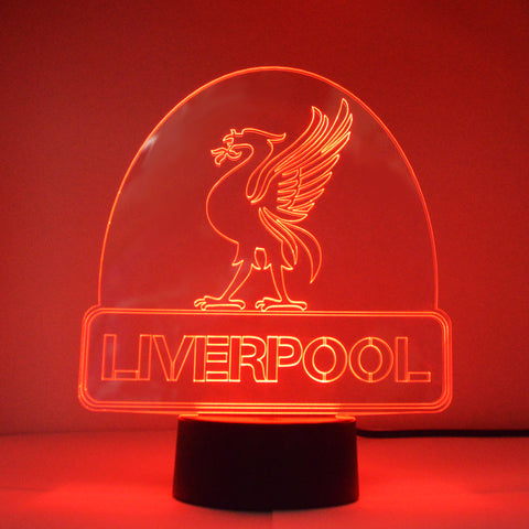 Liverbird on Liverpool City Name Colour Changing LED Acrylic Light