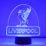 Liverbird on Liverpool City Name Colour Changing LED Acrylic Light - Suave Petal