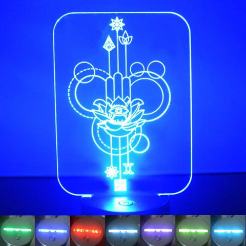 Lotus Flower Decorative Rectangle Colour Changing LED Acrylic Light - Suave Petal