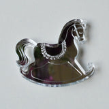 Rocking Horse Mini Craft Sized Acrylic Mirrors (10Pk) - Suave Petal