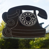 Old Telephone Engraved Acrylic Mirror - Suave Petal
