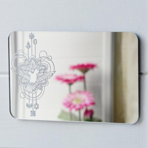 Bird Flying Decorative Rectangle Acrylic Mirror