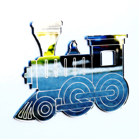 Childrens Steam Train Acrylic Mirror - Suave Petal