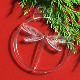 6pk Dragonfly Clear Acrylic Christmas Decorations - Suave Petal