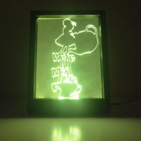 Alice in Wonderland Mad Here Colour Changing RC LED Mirror Light Frame - Suave Petal