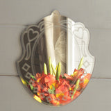 Ornate Hearts Acrylic Mirror - Suave Petal