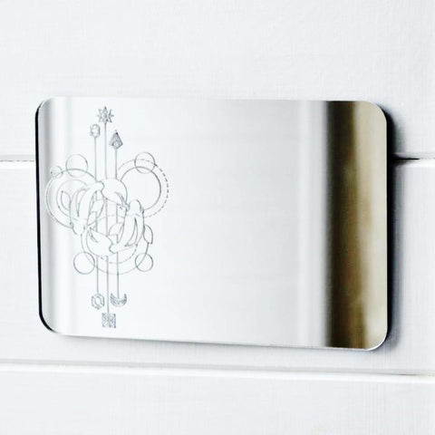 Two Fish Pisces Decorative Rectangle Acrylic Mirror - Suave Petal