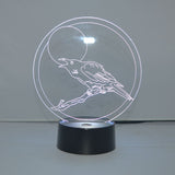 Talking Moon Crow Colour Changing LED Acrylic Light - Suave Petal