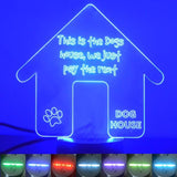 Dog House Kennel Rent Colour Changing LED Acrylic Light - Suave Petal