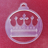 6 Pk Kings Cross Crown Clear Acrylic Christmas Decorations - Suave Petal