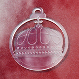 6 Pk Queens Cross Crown Clear Acrylic Christmas Decorations - Suave Petal