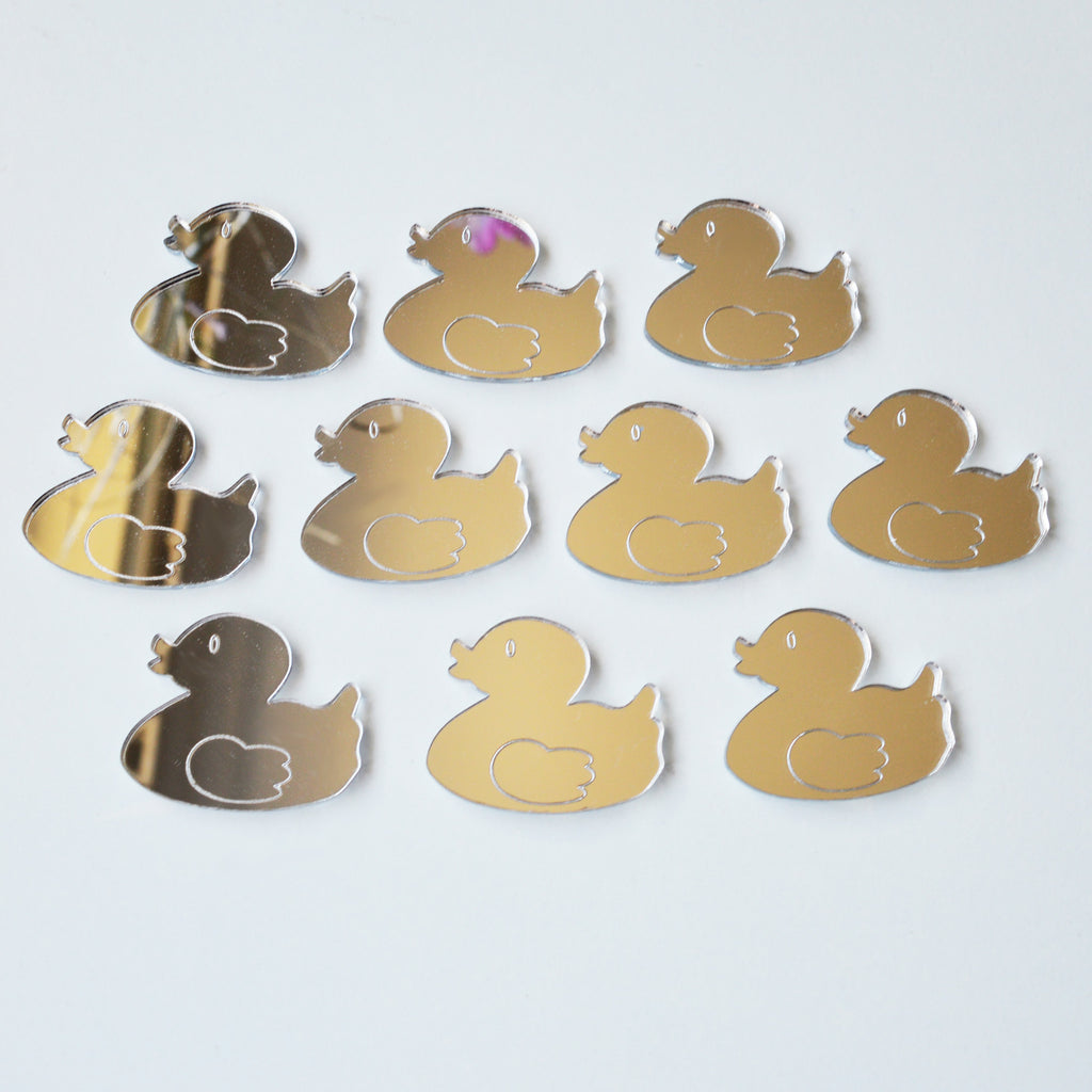 Rubber Duck Mini Craft Sized Acrylic Mirrors (10Pk) - Suave Petal